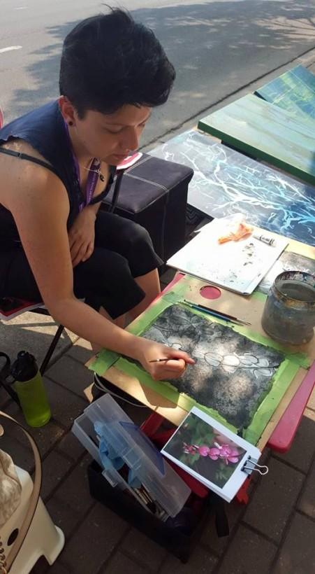 Painting at Art Walk 2015