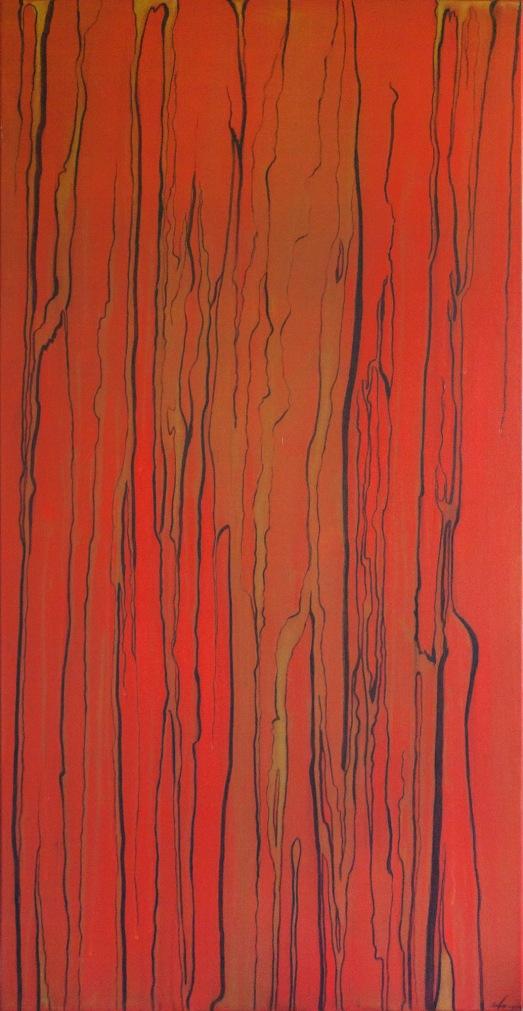 "Mixed media painting ""Burn"""