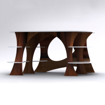 Curves Desk