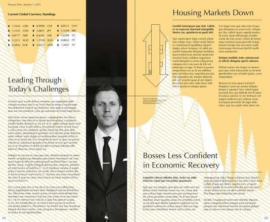 Example Magazine Spread