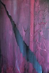 "Mixed media painting ""Ripping Apart"""