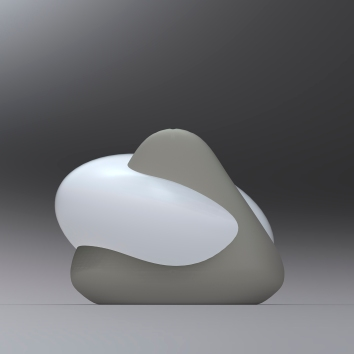 Rendering of the back of a salt and pepper shaker