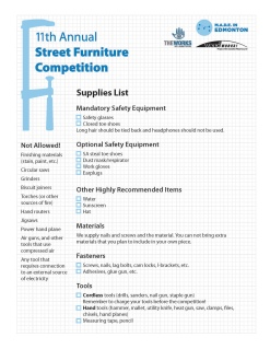 Street Furniture Competition booklet (2011)