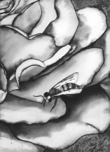 "Watercolour painting ""Bee on a Flower"""