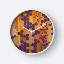 Wall clock with art print