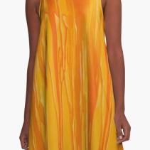 A-Line Dress with art print