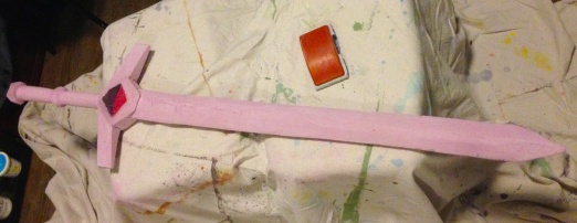 sword partially sanded
