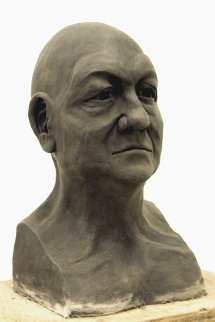 unfired clay bust