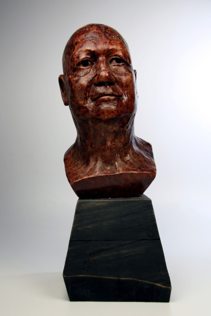 A plaster bust