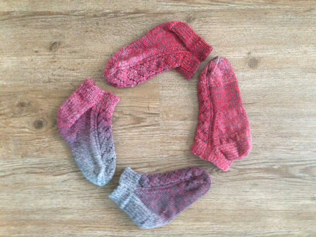 """Pinky"" socks, two pairs"