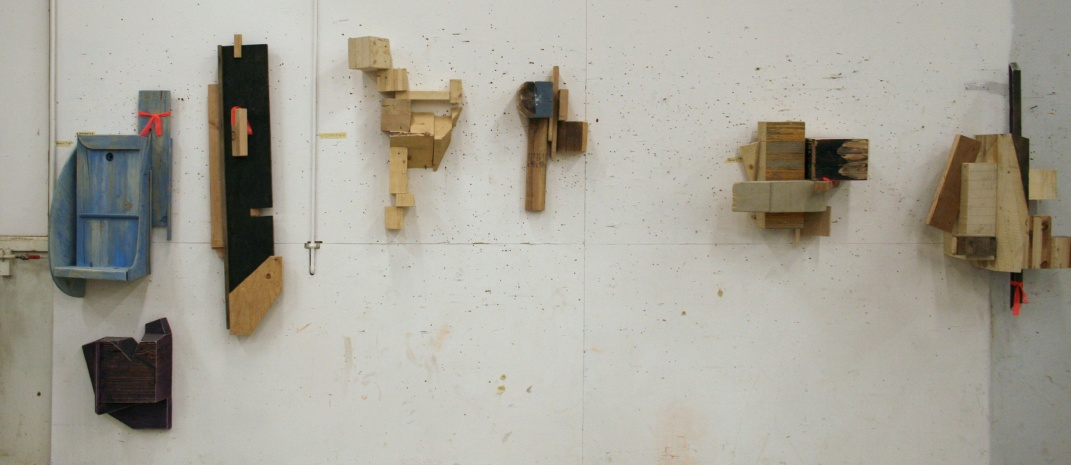 Class projects - small wooden sculptures