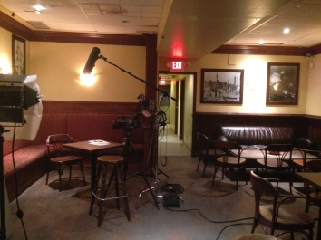 """Filming set-up for """"Knitters of Edmonton"""" interviews"""