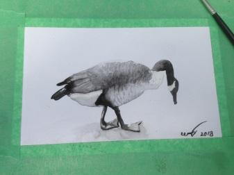 Goose Painting at Art Walk 2018