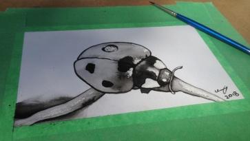 Ladybug painting at Art Walk