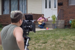 Veronica filming the last scene in Delusional