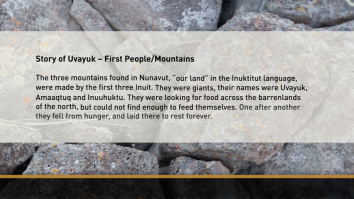 A full screen text asset in Indigenous Canada